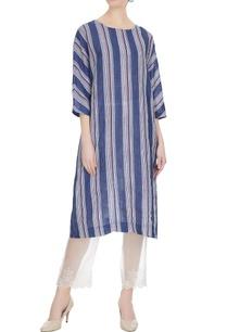 blue-linen-hand-block-printed-midi-tunic