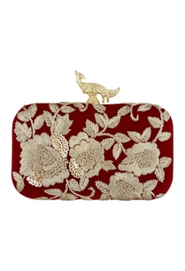 wine-silk-hand-embroidered-sling-clutch