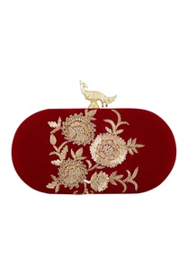 wine-velvet-hand-embroidered-sling-clutch