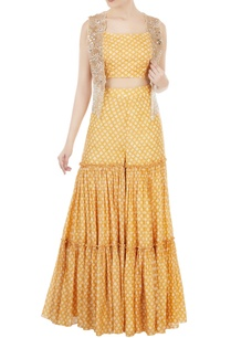 yellow-printed-crop-top-with-sharara-pants-embellished-jacket