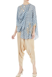 blue-off-white-printed-bird-motif-embroidered-blouse-with-pants