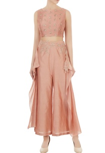onion-pink-chanderi-crop-top-with-flared-palazzos