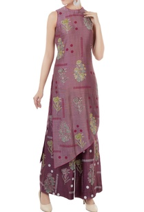 amethyst-purple-chanderi-block-printed-tunic-with-pants-inner