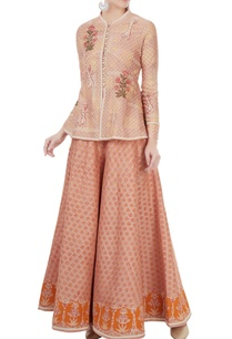 peach-peplum-style-jacket-with-sharara-pants