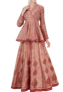 red-hand-block-printed-angrakha-jacket-with-lehenga
