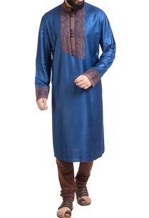 blue-abstract-motif-hand-embroidered-kurta-with-churidar