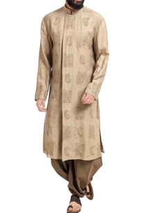 beige-linen-machine-embroidered-kurta-with-patiala-pants