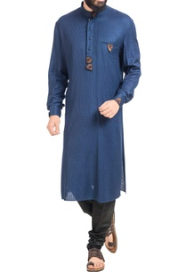 navy-blue-embroidered-kurta-with-black-churidar