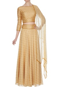 beige-georgette-chiffon-silk-bead-embellished-lehenga-with-blouse-dupatta