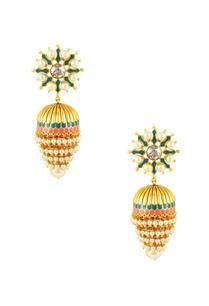 gold-plated-tarun-tahiliani-emerald-swarovski-jhumka-earrings