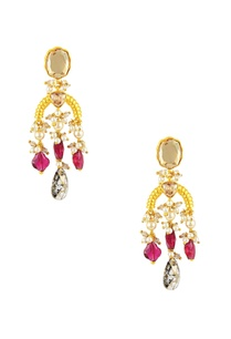 maroon-tarun-tahiliani-heritage-long-earrings