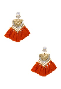 gold-plated-swarovski-earrings-with-pearls-orange-fringe-detailing