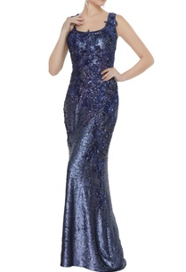 navy-blue-sequin-fabric-applique-work-sheath-gown