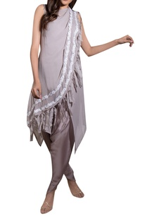 grey-georgette-cotton-satin-hand-embroidered-draped-dhoti-jumpsuit