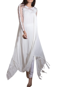 white-crinkle-satin-net-lycra-hand-embroidered-kurta-with-churidars