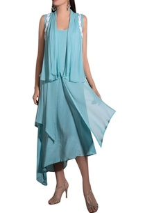 blue-georgette-crepe-hand-embroidered-layered-dress-with-jacket