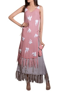 pink-georgette-crepe-hand-embroidered-layered-dress