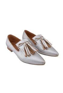 silver-leather-tasseled-ballerinas