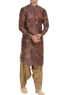multi-colored-chanderi-cotton-silk-printed-kurta