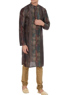 multi-colored-chanderi-cotton-silk-striped-kurta