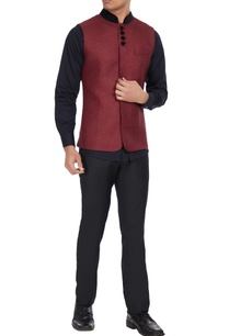 jute-bandi-with-contrast-velvet-collar
