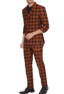 two-piece-checkered-suit