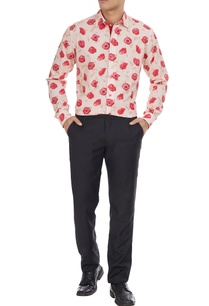 beige-cotton-shirt-in-pink-rose-print
