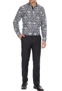black-white-skeleton-printed-pure-cotton-long-sleeve-shirt