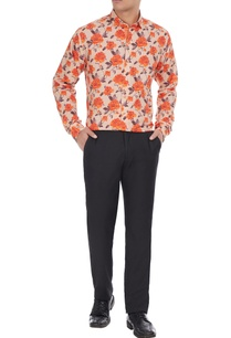 white-orange-pure-cotton-floral-printed-long-sleeve-shirt