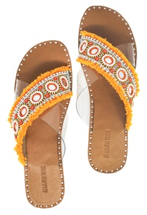 orange-beige-cross-criss-flat-sandals