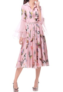 rose-pink-crepe-silk-midi-dress-with-organza-sleeves