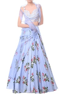 powder-blue-long-sheer-jacket-with-sheer-bustier-flared-skirt