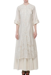 ivory-cotton-silk-thread-patch-work-kurta-with-inner
