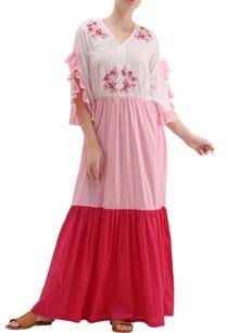 multi-colored-cotton-silk-pearl-thread-embroidery-tiered-maxi-dress