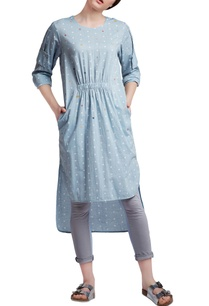 blue-cotton-regular-embroidered-high-low-tunic