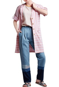 pink-white-cotton-regular-striped-patchwork-blazer