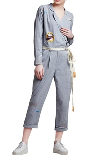 grey-cotton-regular-slogan-patchwork-jumpsuit