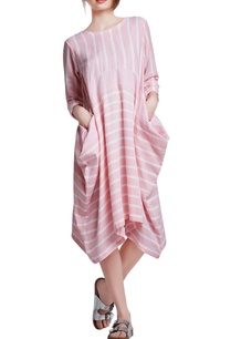 pink-white-cotton-oversized-applique-hand-embroidered-dress