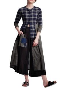 multi-colored-cotton-regular-chequered-tunic