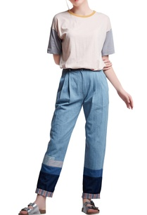 blue-denim-regular-slogan-pleated-pants