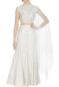 holographic-white-silver-rainbow-fabric-crop-top-with-fish-tail-long-skirt-stole