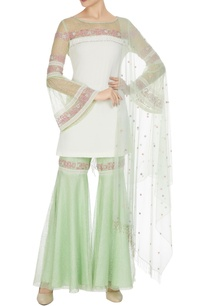 lime-green-off-white-lace-georgette-fringed-tunic-with-sharara