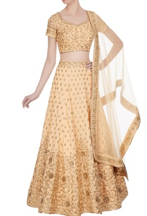 peach-sequin-zari-embroidered-lehenga-set