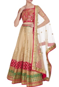 pink-raw-silk-gota-patti-lehenga-set