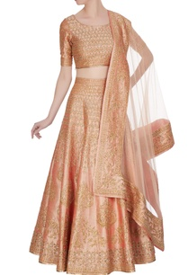 peach-zari-zircon-embroidered-lehenga-set