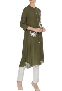 linen-silk-floral-hand-machine-embroidered-kurta