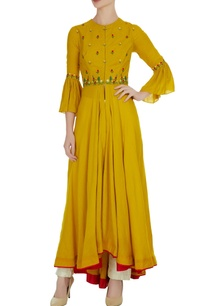 floral-hand-machine-embroidered-kurta-with-center-slit