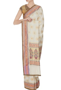gold-handwoven-jacquard-sari-with-unstitched-blouse
