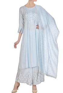 periwinkle-blue-cotton-satin-chanderi-pin-tucked-jaali-gota-work-a-line-kurta-with-palazzos-dupatta