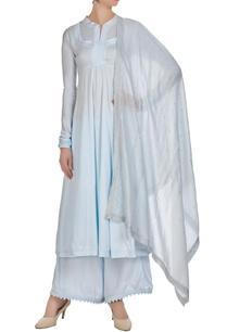 periwinkle-blue-cotton-satin-chanderi-jaali-work-anarkali-kurta-with-palazzos-dupatta